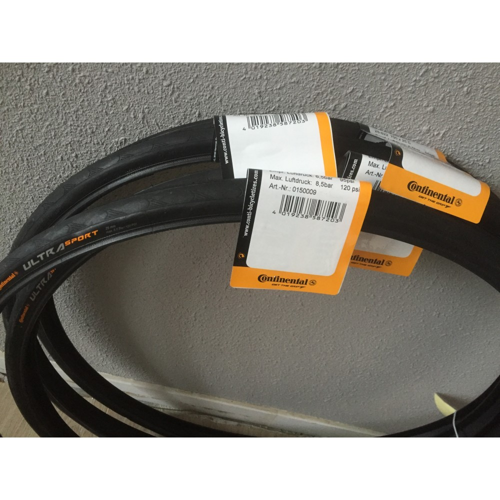 2x Continental Ultra Sport 2 25mm Draadband